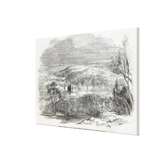 Reinhardtsbrunn, Gotha, engraved by W.J. Canvas Print