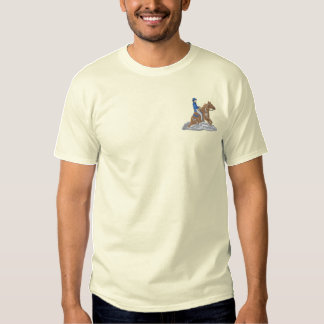 Reining Horse Embroidered T-Shirt