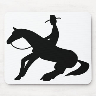 reining horse icon mouse pad