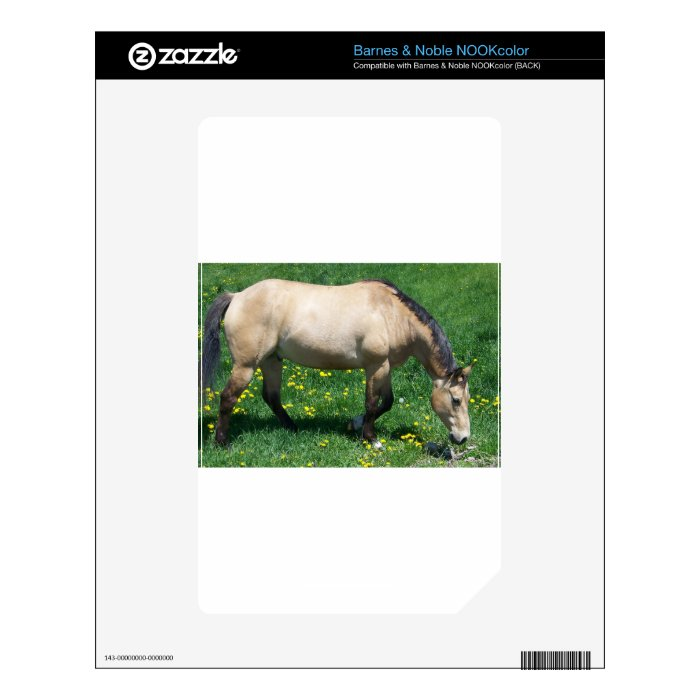 Reining Horse In Pasture Decal For NOOK Color