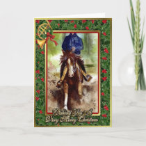 Reining Quarter Horse Blank Christmas Card