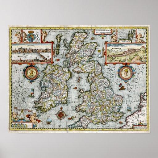 Reino 1676 de Gran Bretaña y de Irlanda Póster