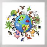 Reino animal: Animales en todo el mundo Posters