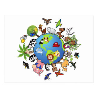 Reino animal pacífico - animales en todo el mundo tarjeta postal