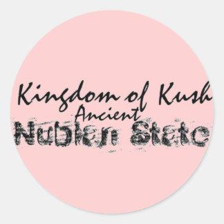 Reino de Africankoko de Kush, Nubian, Egipto, Etiqueta Redonda