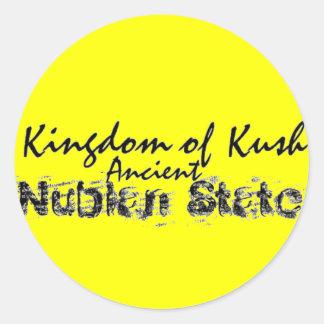 Reino de Africankoko de Kush, Nubian, Egipto, Pegatina Redonda