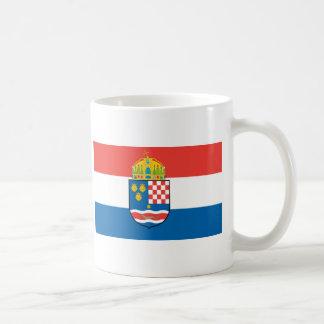 Reino de Dalmacia Croacia y de la bandera de Eslav Tazas De Café