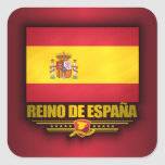 Reino de Espana Calcomanias Cuadradas