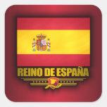Reino de Espana Pegatina Cuadrada