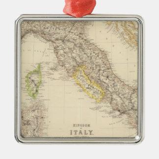 Reino de Italia Adorno Navideño Cuadrado De Metal