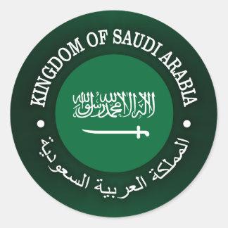 Reino de la Arabia Saudita Pegatina Redonda