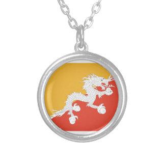 Reino de la bandera de Bhután, fuego del dragón Colgante Redondo