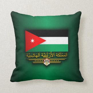 Reino de la bandera de Jordania (árabe) Cojín Decorativo