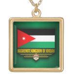 Reino de la bandera de Jordania Colgante Cuadrado