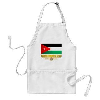 Reino de la bandera de Jordania Delantal