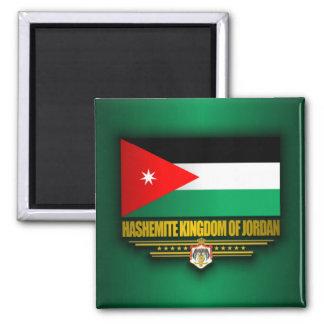 Reino de la bandera de Jordania Imán Cuadrado