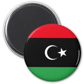 Reino de la bandera de Libia (1951-1969) Imán Redondo 5 Cm