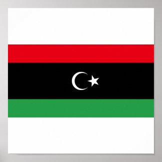 Reino de la bandera de Libia 1951-1969 Posters