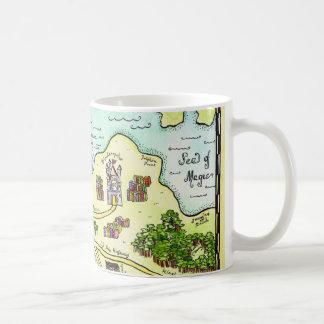 Reino de la buena taza de café del mapa de la aleg