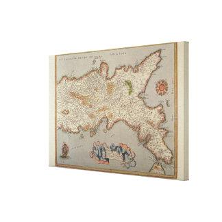 Reino de Nápoles Impresión En Lienzo Estirada