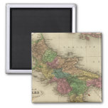 Reino de Nápoles o los dos Sicilies 2 Imán Cuadrado