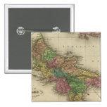 Reino de Nápoles o los dos Sicilies 2 Pin Cuadrado
