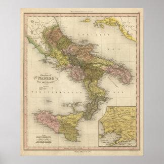 Reino de Nápoles o los dos Sicilies Poster