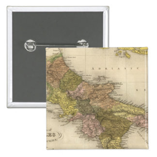 Reino de Nápoles o los dos Sicilies Pin Cuadrada 5 Cm