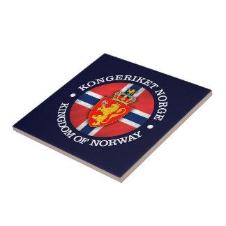 Reino de Noruega Azulejo Cuadrado Pequeño