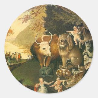 Reino de Peacable por los catetos de Edward Pegatina Redonda