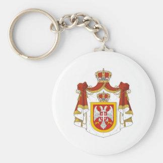 Reino de Serbia Llavero Redondo Tipo Pin