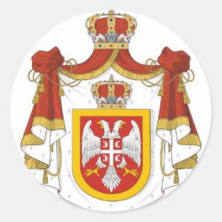 Reino de Serbia Pegatina Redonda