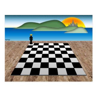 Reino del ajedrez tarjeta postal