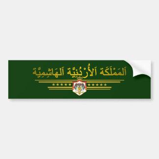 Reino del COA de Jordania (árabe) Pegatina De Parachoque