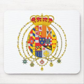 Reino del escudo de armas de dos Sicilies Alfombrilla De Raton