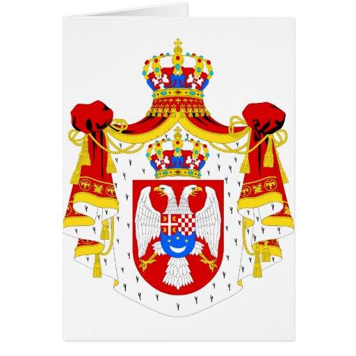 Reino del escudo de armas del símbolo del funciona tarjeton