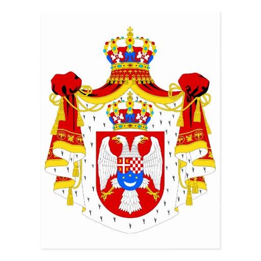 Reino del escudo de armas del símbolo del funciona tarjetas postales