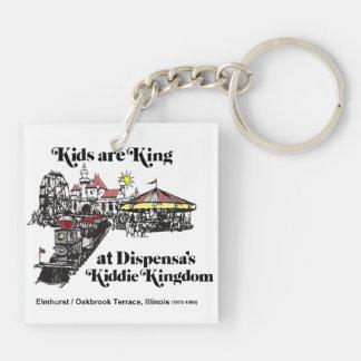 Reino del Kiddie de Dispensa, terraza de Oak Brook Llavero Cuadrado Acrílico A Doble Cara