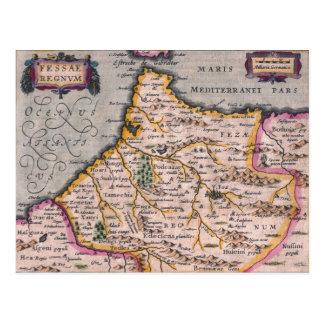 Reino del mapa de la antigüedad de Fes Fes de la Postal