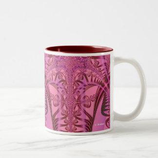 Reino del pensamiento taza de café de dos colores