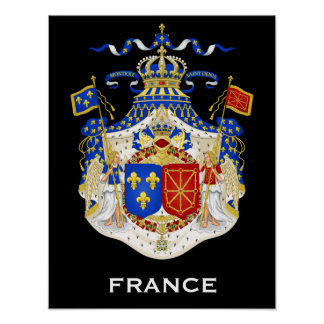 Reino del poster del escudo de armas de Francia