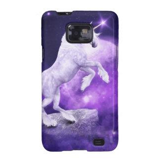 Reino encantado noche mágica del unicornio samsung galaxy s2 carcasas