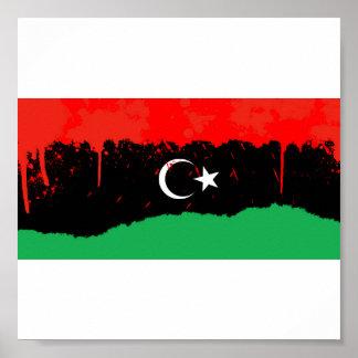Reino estilizado de la bandera de Libia Posters