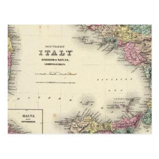 Reino meridional de Italia de Nápoles Postales