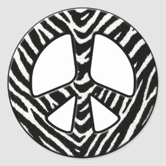 Reino pacífico - 2 pegatinas redondas