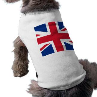 - Reino Unido - bandera británica de Gran Bretaña  Playera Sin Mangas Para Perro