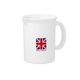 Reino Unido - bandera de Union Jack Jarra Para Bebida