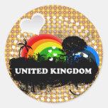 Reino Unido con sabor a fruta lindo Pegatina Redonda