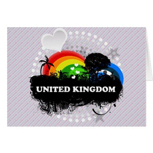 Reino Unido con sabor a fruta lindo Tarjeton