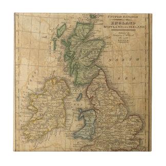 Reino Unido de Inglaterra, de Escocia y de Irlanda Azulejo Cuadrado Pequeño